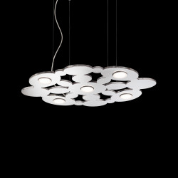 pendant light TORONTO 5-flames chrome