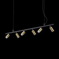 pendant light DYNAMITE SP6 black/gold