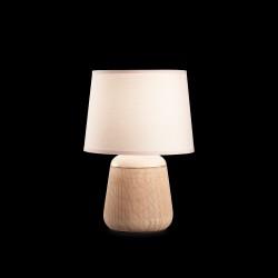 Tischlampe KALI2 29cm 1-flammig creme/braun