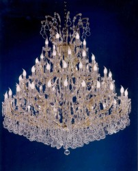 45 arms crystal chandelier Ø 150cm made with lead free crystal