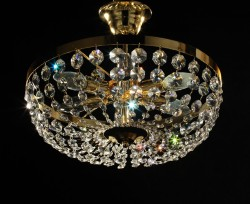 ceiling lamp Ø40cm made with TRAUMKRISTALL© chrome or gold