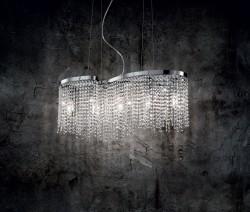 pendant luminaire AURORA 5-bulbs chrome