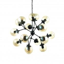 Lamp KEPLER 12 lights black