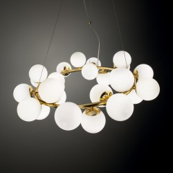 pendantlamp DNA SP25 Ø70,5cm gold, white