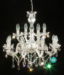 chandelier 12 arm Ø60cm - made with SPECTRA® Crystal by SWAROVSKI