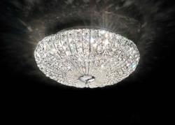 ceilinglamp VIRGIN 6-flames Ø49cm chrome