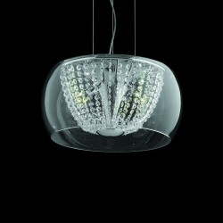 Crystal glass ceiling lamp Ø40cm chrome