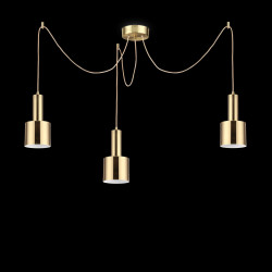 pendant light HOLLY 3-flames brass