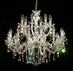 chandelier 18 arms Ø75cm, made with SPECTRA® Crystal by SWAROVSKI