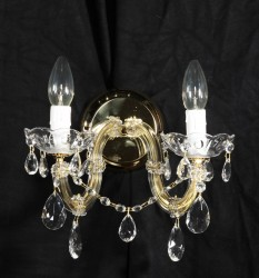 crystal sconce 2 arms MSRP 99€
