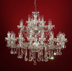Venice crystal chandelier 28 arms brass or nickel <s>1199€</s>