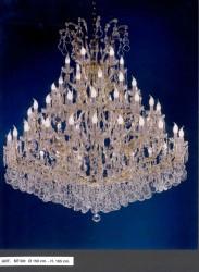 Venezianischer Kristall Kronleuchter 45-armig Ø150cm silber- od. goldfarben