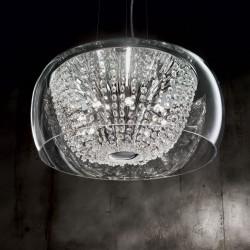 Kristall Hängeleuchte AUDI-61 Ø50cm 8-flammig chrom