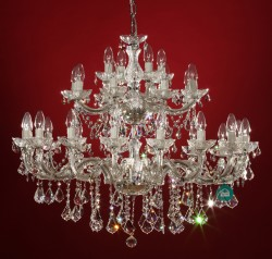 chandelier 28 arms made with SPECTRA® Crystal by SWAROVSKI MSRP 1999¤