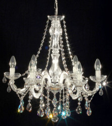 chandelier 6 arms made with SPECTRA® Crystal by SWAROVSKI