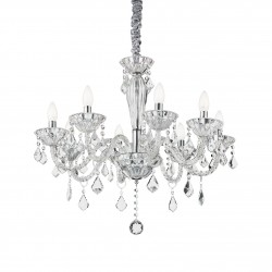 crystal chandelier TIEPOLO 8 arms Ø70cm transparent