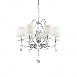 crystal chandelier SENIX 6 arms Ø63cm chrome