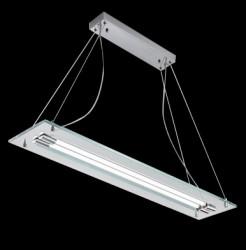 pendant luminaire RELAX 2-flames 106cm chrome