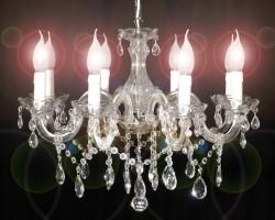 Venetian chandelier 8 arms 60cm nickel