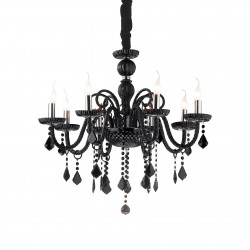 crystal chandelier GIUDECCA 8-arms Ø77cm black