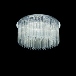 modern ceiling lamp ELEGANT Ø65cm chrome