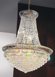 crystal chandelier New Orleans Ø60cm gold-plated or nickel-plated