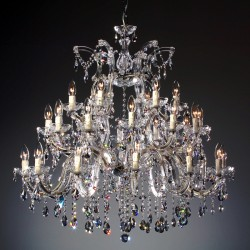 chandelier 30 arms made with SPECTRA® Crystal by SWAROVSKI MSRP 1999¤