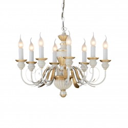 chandelier FIRENZE 8 arms Ø64cm cream-gold