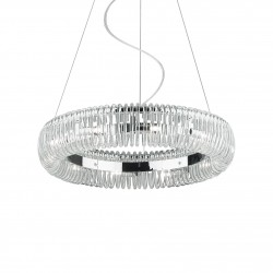 pendant light QUASAR 10-flames Ø53cm chrome