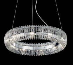 pendant light QUASAR 6-flames Ø40cm chrome
