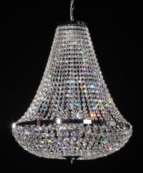 Imperial chandelier Ø60cm gold-plated or nickel-plated