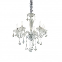 crystal chandelier TIEPOLO 5 arms Ø56cm transparent