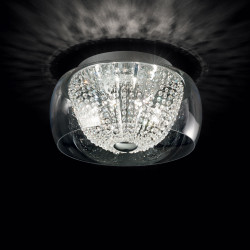 modern ceiling lamp AUDIi60 Ø50cm chrome