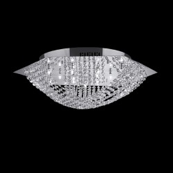 Deckenleuchte ESA 14-flammig Ø60cm chrom