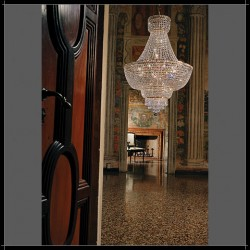crystal chandelier Beethoven Ø60cm gold-plated or nickel-plated