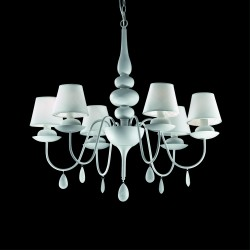 chandelier BLANCHE 6-arms Ø75cm white
