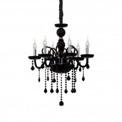 crystal chandelier GIUDECCA 6-arms Ø58cm black