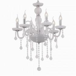 crystal chandelier GIUDECCA 6-arms Ø58cm white