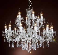crystal chandelier 18 arms brass or nickel MRSP 699¤