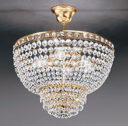 ceiling lamp Sospensione Amsterdam Ø50cm gold-plated or nickel-plated
