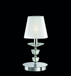 table lamp PEGASO TL1 small Ø15cm chrome-white